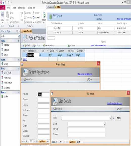 Popular Microsoft Access Database And Templates Examples