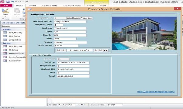 Microsoft Access  Real Estate Database Templates For Microsoft