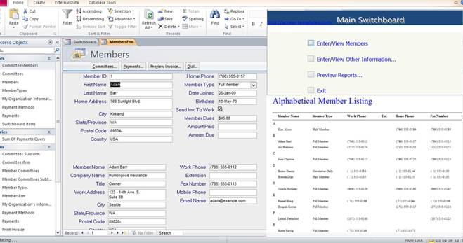 Access Database Membership Tracking Templates Examples For Microsoft