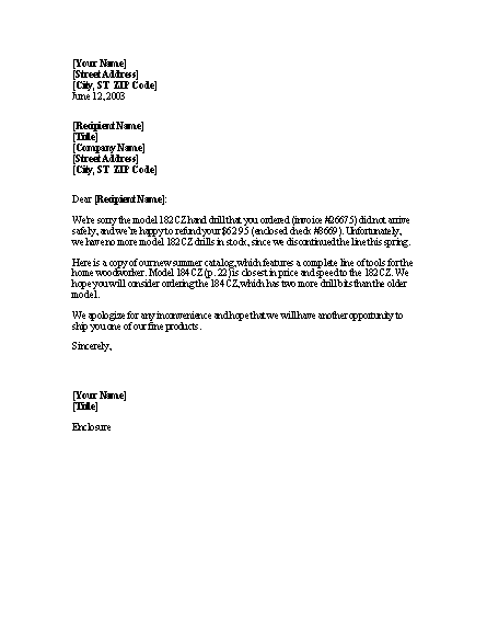 Sample business letter request for refund sample for Tax refund letter template
