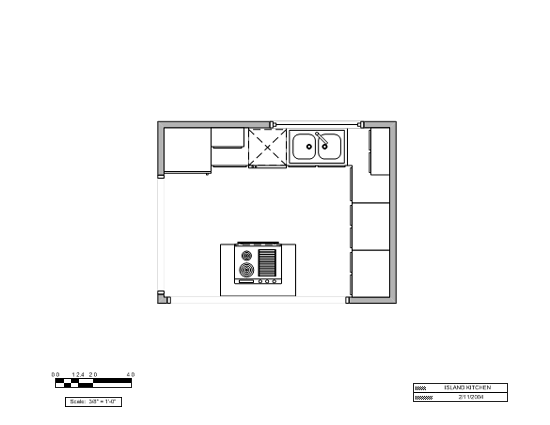 Island Kitchen Layout (u.s. Units)