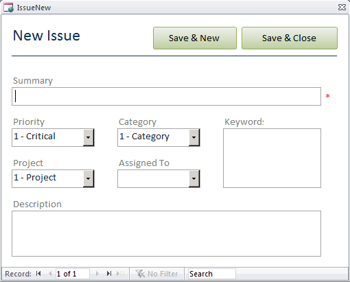 access 2010 database templates
