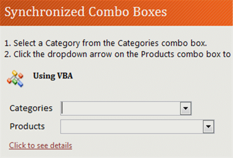 how to synchronize combo drop down list box access