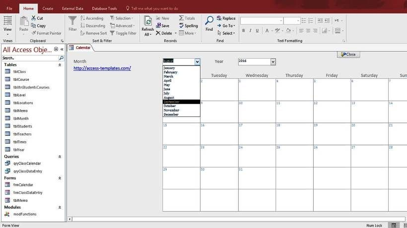 microsoft access templates and database examples