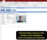 Microsoft Access Templates Employee Scheduling Database
