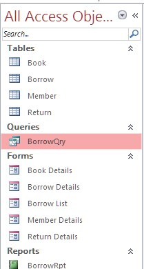 What is Query in Ms Access