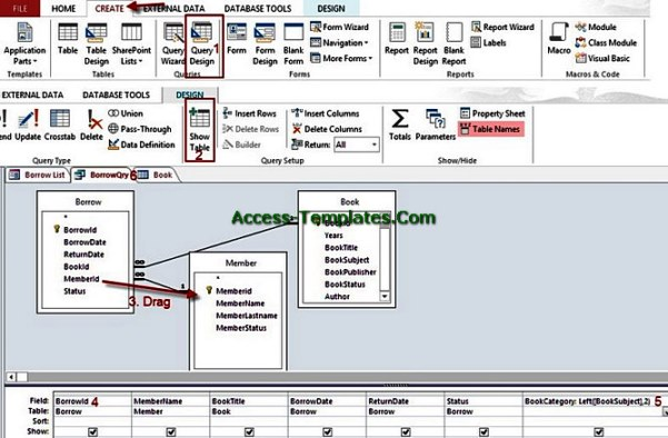 Query in Microsoft Access