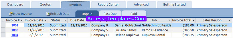 Access Templates Invoicing Software Database for Small Business (3)