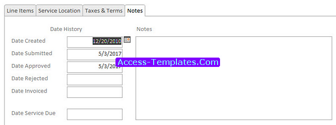 Access Templates of Invoicing Software for Small Business Database