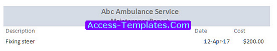 Ambulance Dispatch for Ms Access