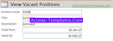 Access Templates Candidate Applicant Tracking System