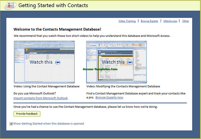 contact management database access