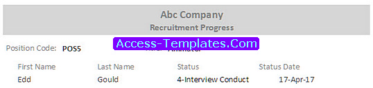 HR Recruitment Access Database Templates