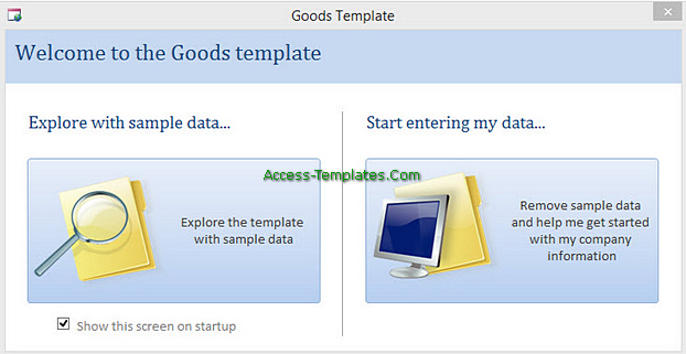 Access Templates Inventory Tracker for Small Business