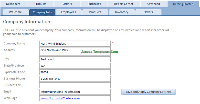 Access Templates Inventory Tracker for Small Business (2)