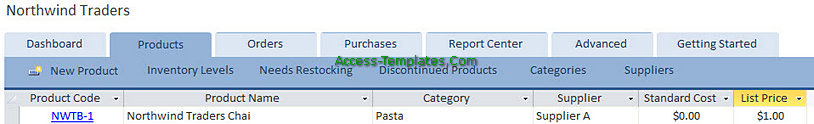 Access Templates Inventory Tracker for Small Business (4)