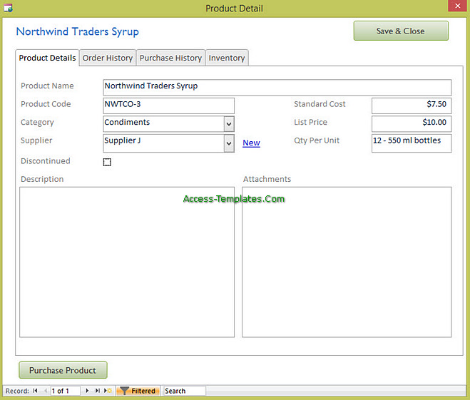 Access Templates Inventory Tracker for Small Business (5)