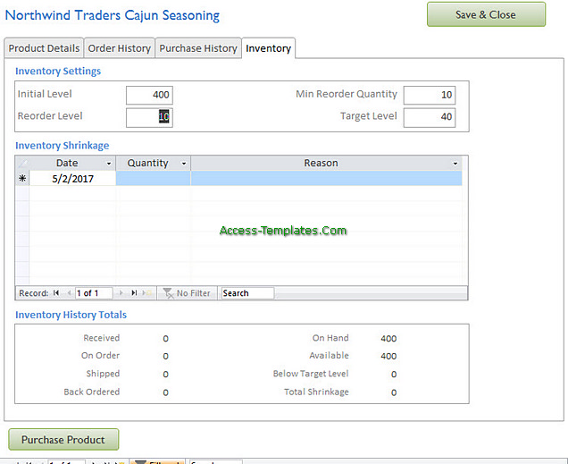 Access Templates Inventory Tracker for Small Business (6)