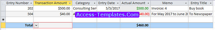 Access Templates for Small Business Ledger (2)