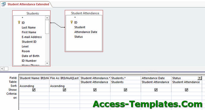 Ms access query option find duplicates and parameters for Ms access html template