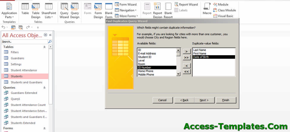 ms access query remove duplicates