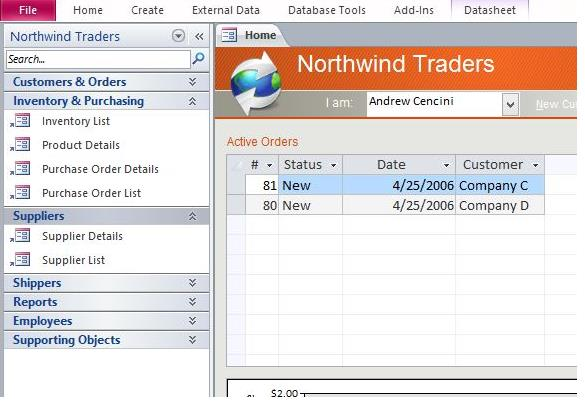 Northwind Database Access 2013