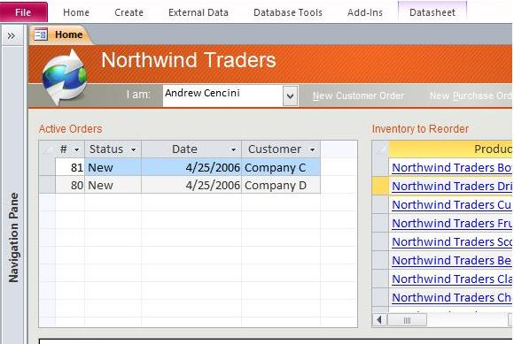Download northwind microsoft access templates and access for Document control database template