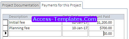 Project Management Tool for Microsoft Access Templates