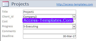 Project Time Tracker Templates for Microsoft Access