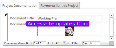 Project Tracker Templates in Microsoft Access Database