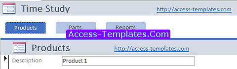 Time Study Database Templates for MS Access