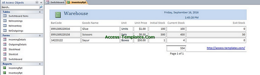 access templates inventory management database tutorial