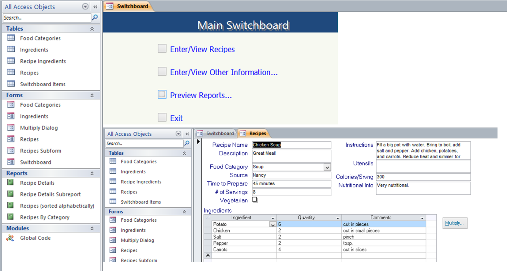 office database templates